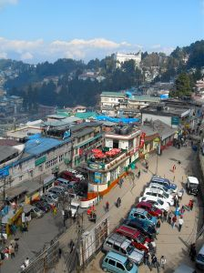 View of the quirky Darjeeling streets.