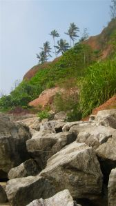Varkala's stony, red cliffs.
