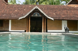 The view from the pool at Vaamika.